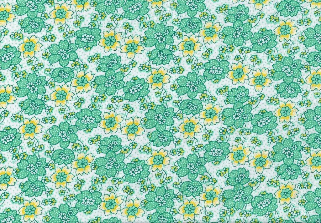 Nana Mae III - Dotted Flower - Green