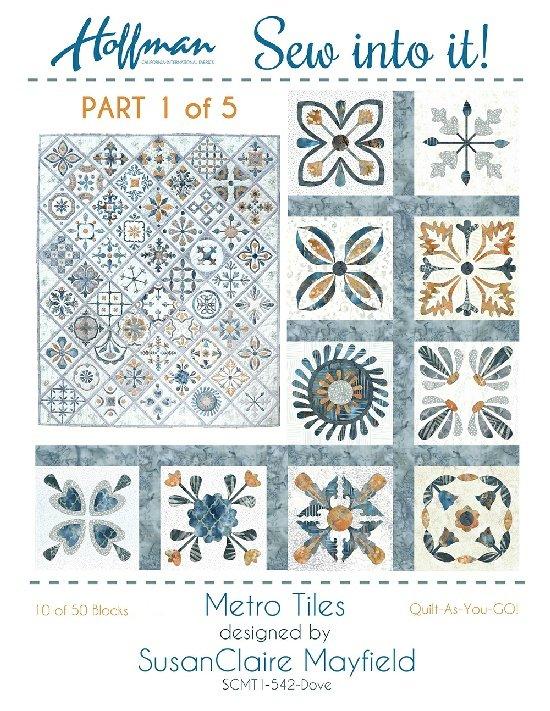 Hoffman's Sew Into It! Metro Tiles Quilt Kit