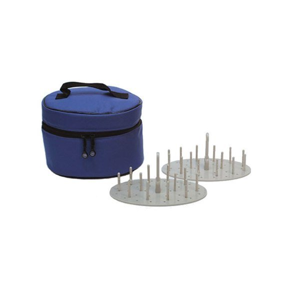 Bluefig Thread Carry Case Mini, Includes 2 Thread Carrier Trays & 2 Sets of Pins, Cobalt