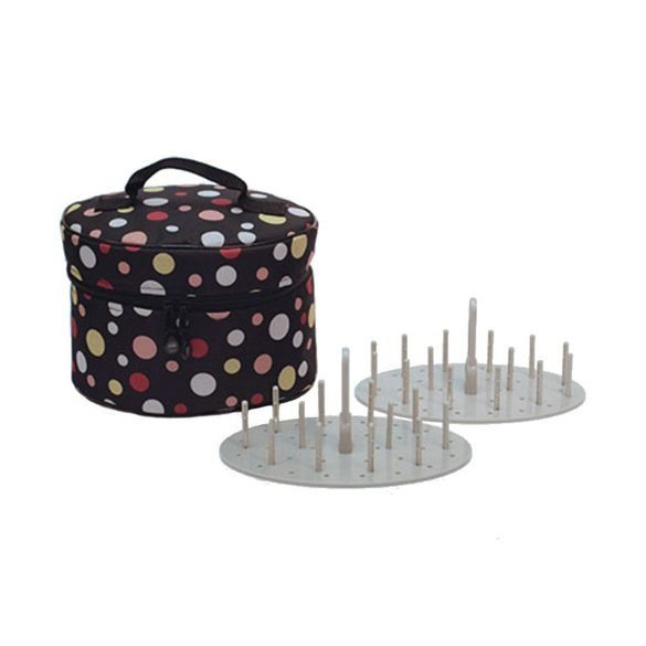 Bluefig Thread Carry Case Mini, Includes 2 Thread Carrier Trays & 2 Sets of Pins, Dottie