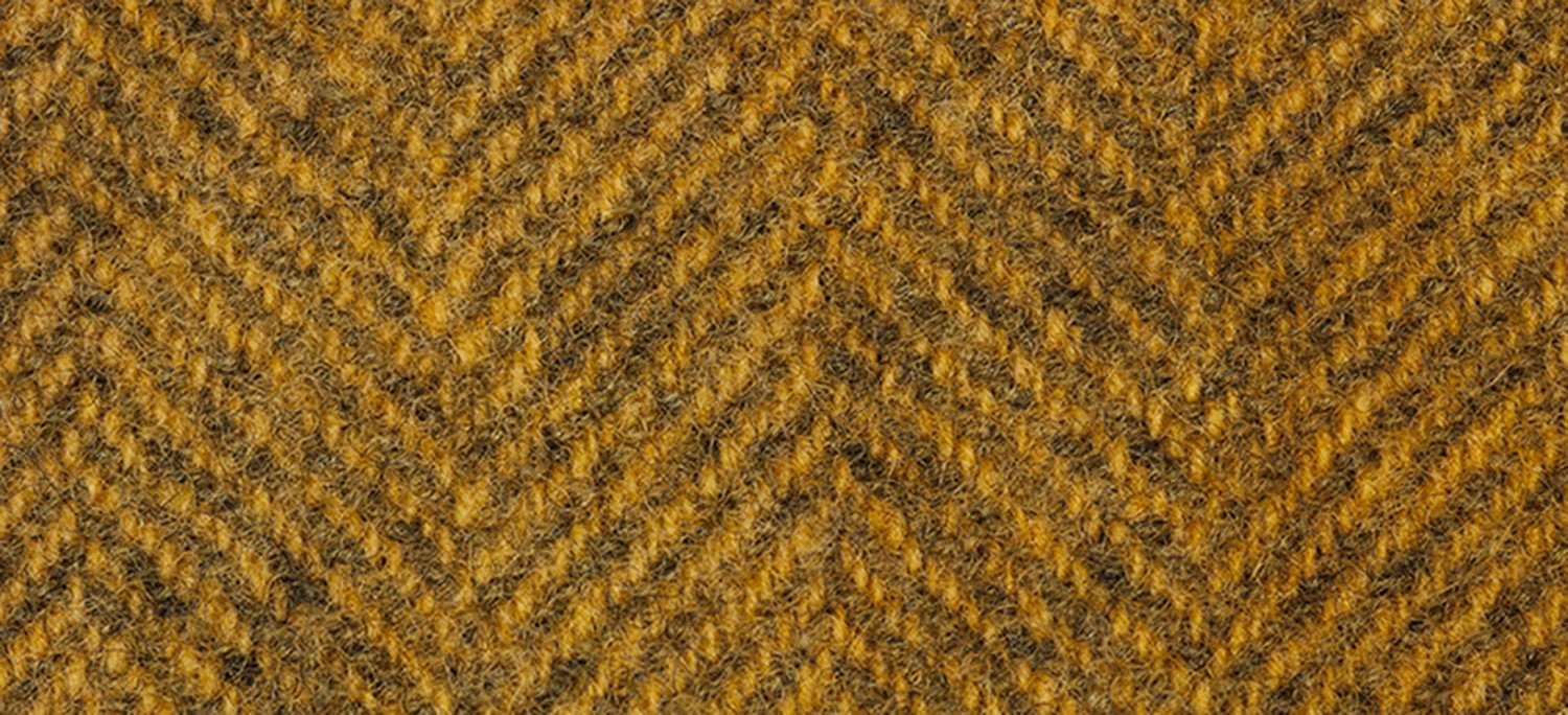 Wool Fat Quarter 1224a HB Mustard Herringbone 16in x 26in
