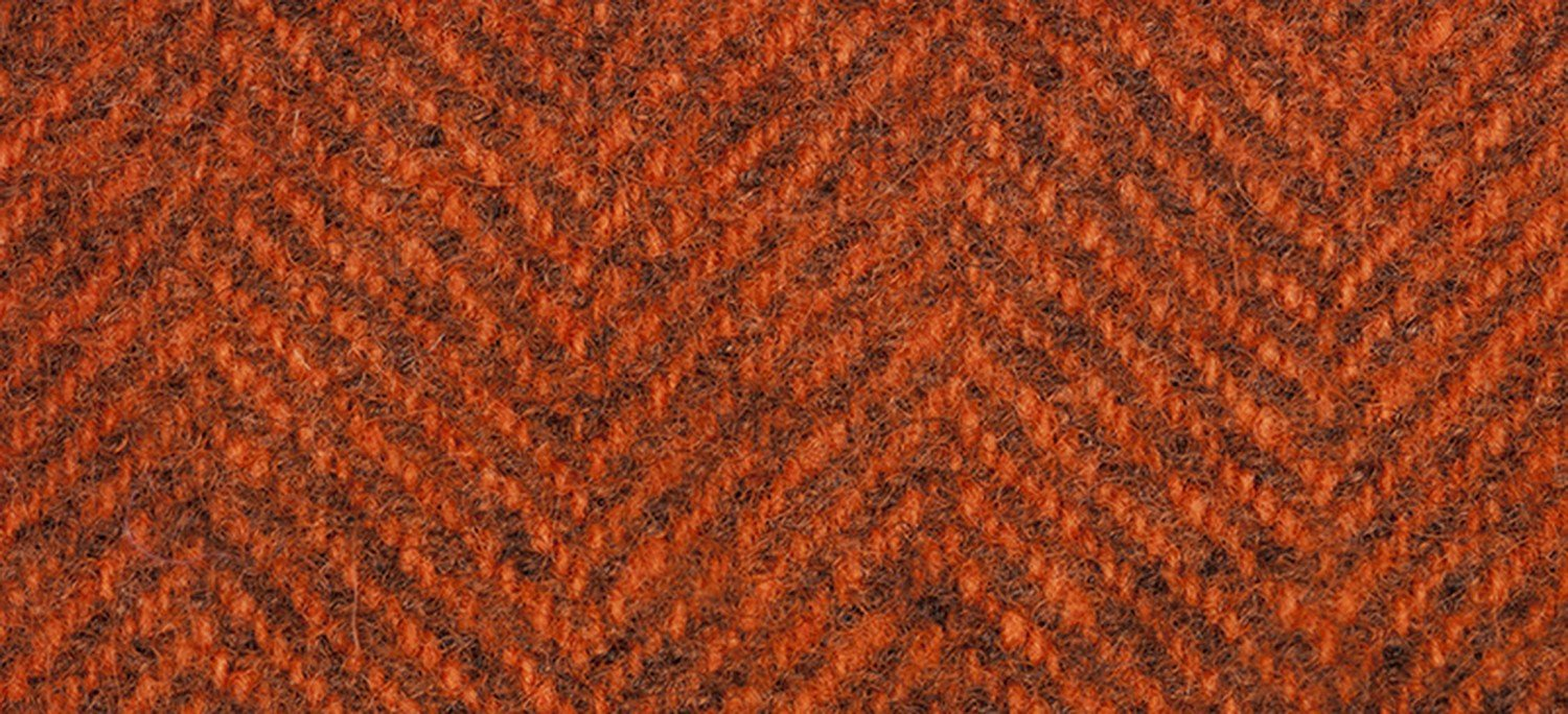 Wool Fat Eighth 2239 HB Terra Cotta Herringbone 13in x 16in