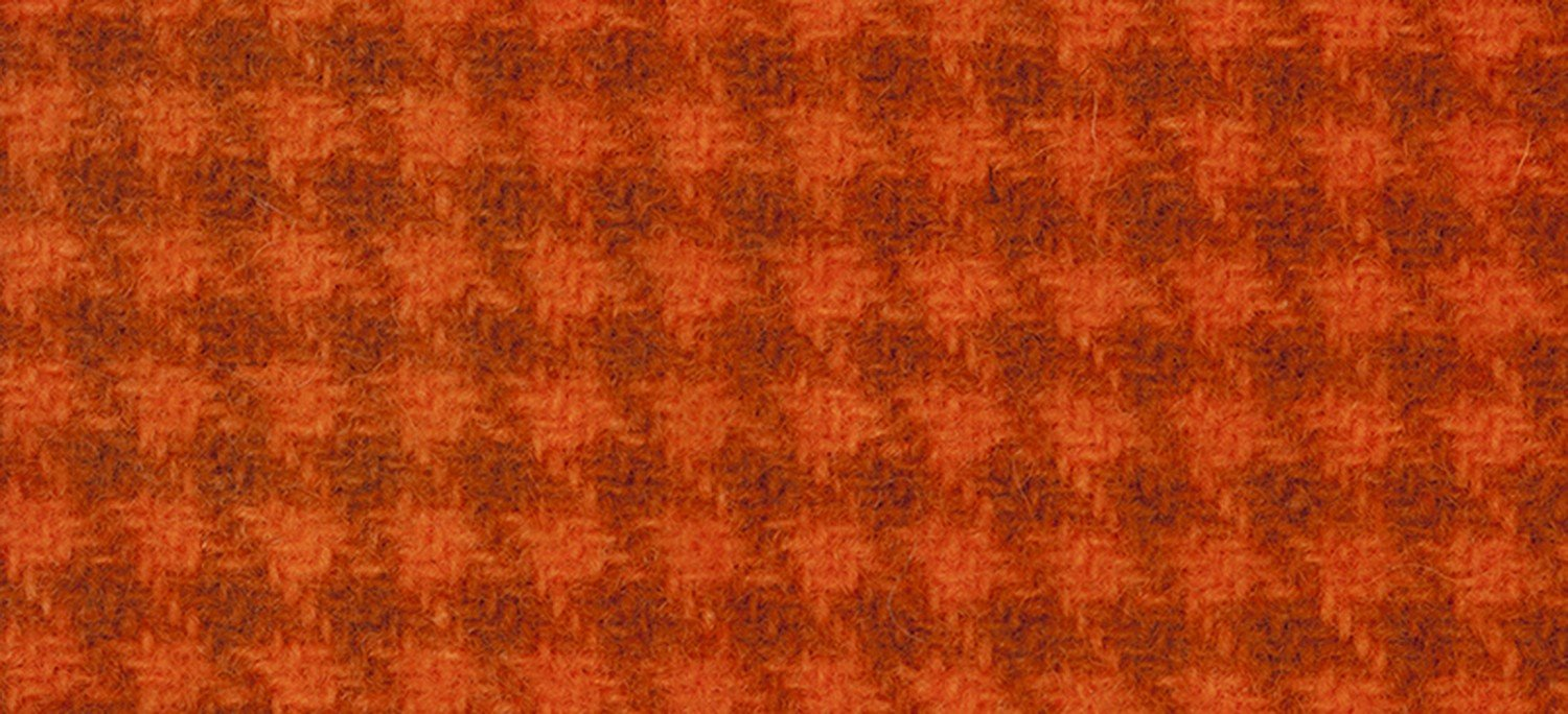 Wool Fat Quarter 2228 HT Pumpkin Houndstooth 16in x 26in