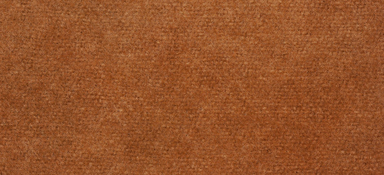 Wool Fat Eighth 2242 Cognac Solid 13in x 16in