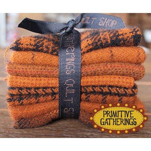 Primitive Gatherings - Wool Bundle (Medium) - Pumpkin Texture