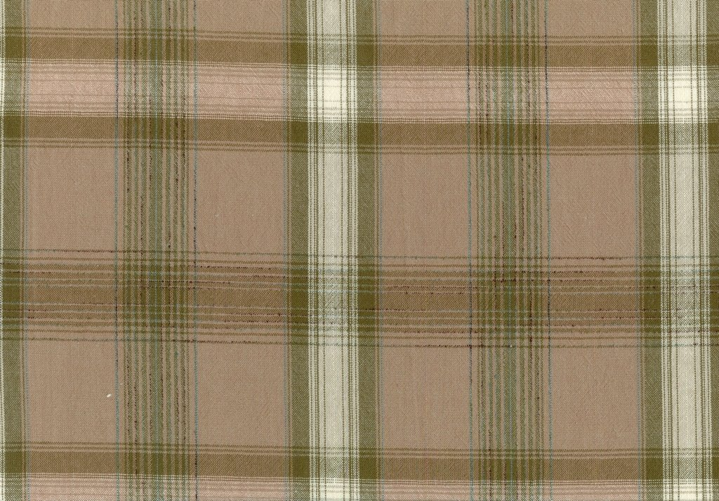 European Taupe XIII Yarn Dyed - Striking Plaid - Light Wine