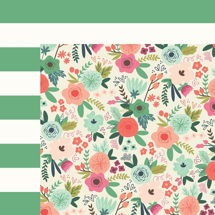 Double-sided scrapbook paper