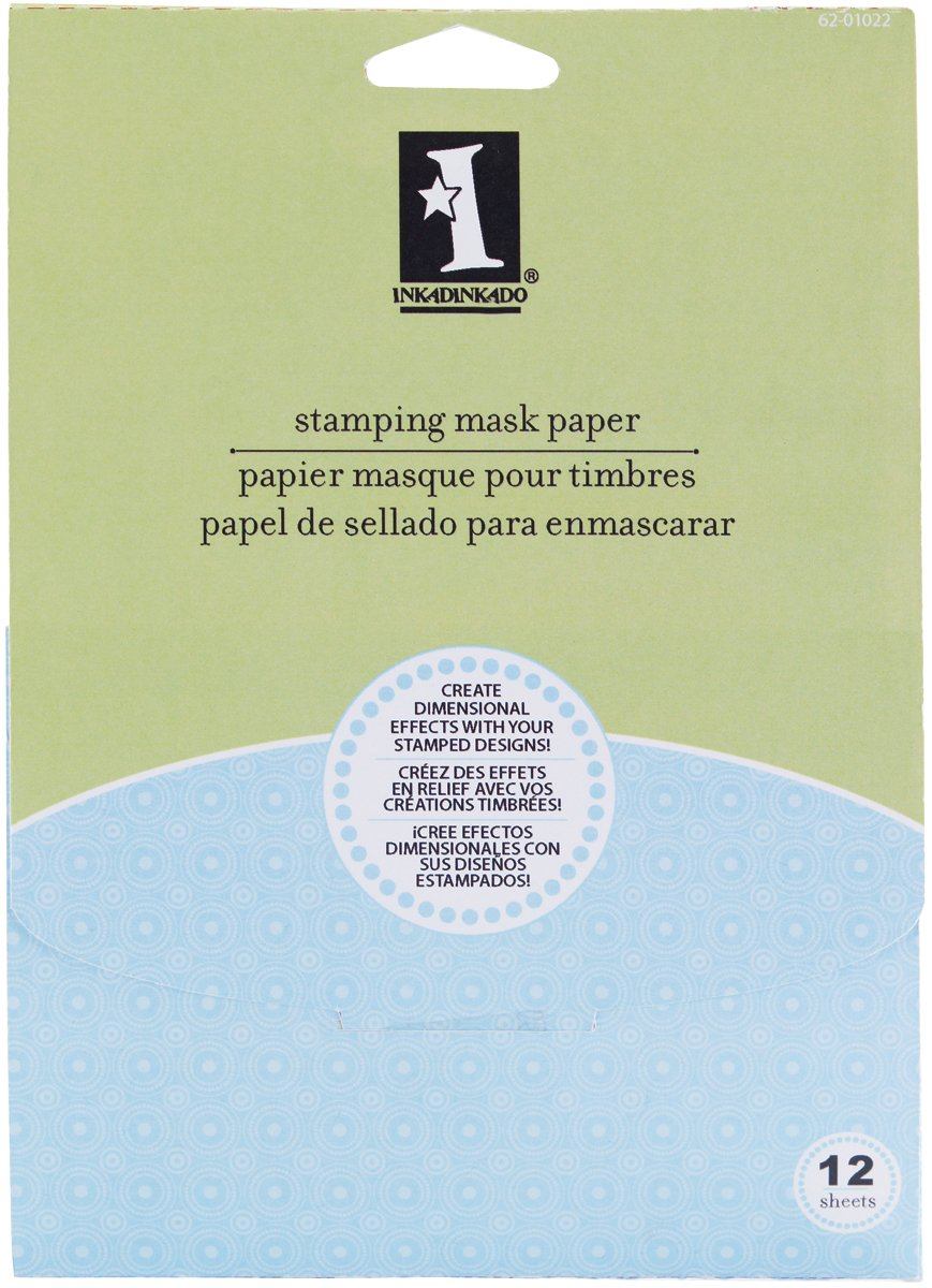 Inkadinkado Stamping Mask Paper 7X5 12/Pkg-