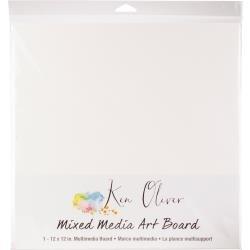 Ken Oliver Mixed Media Art Board 12x12