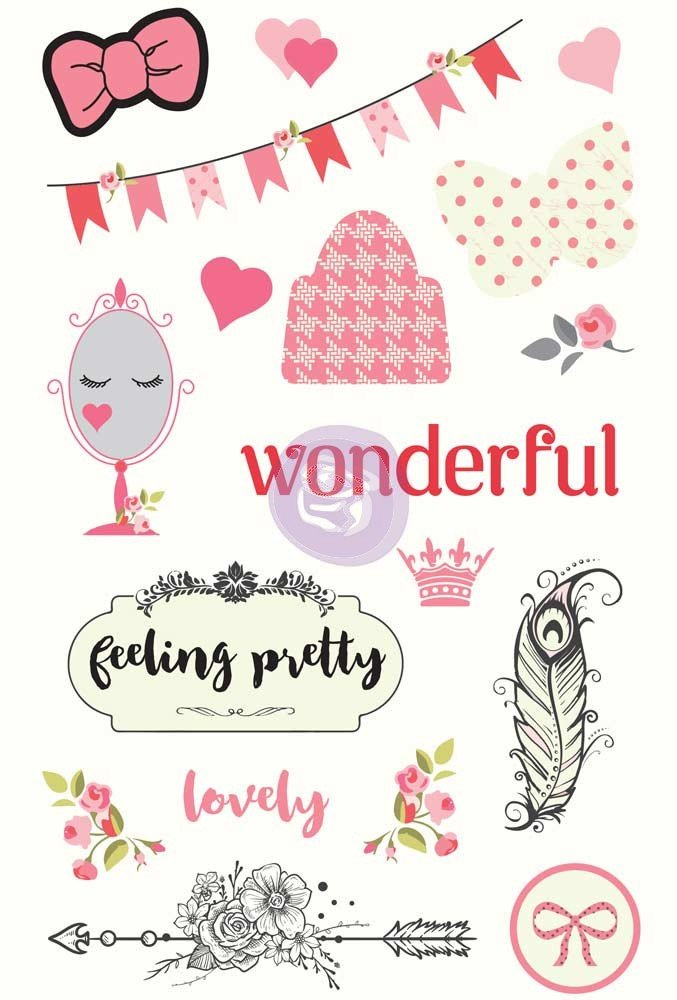 Julie Nutting Being Girlie Chipboard Stickers