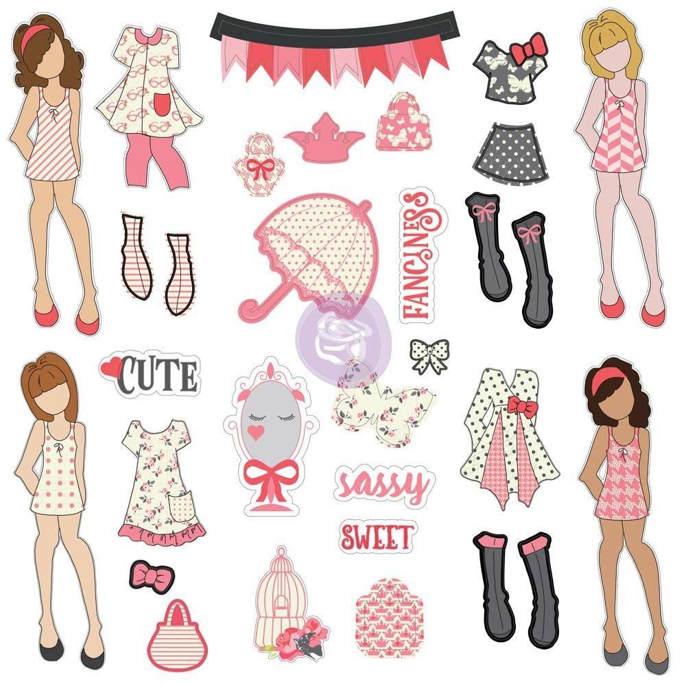 Julie Nutting Being Girlie Ephemera 31 Piece