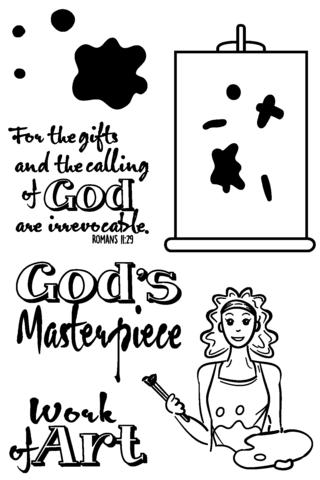 Joy Clair God's Masterpiece Stamp Set