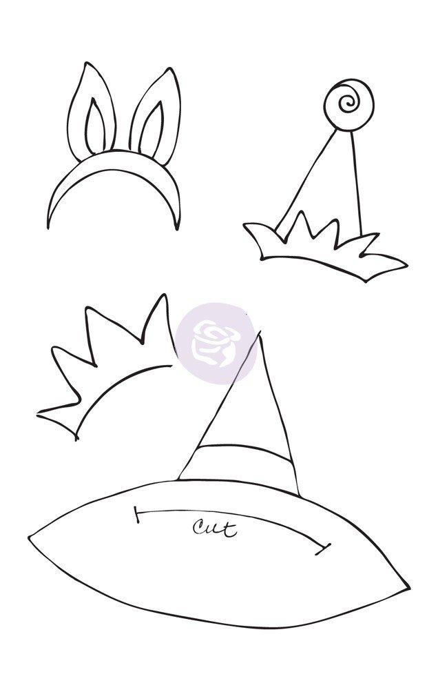 Julie Nutting Hats #1Cling Stamp