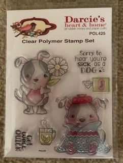 Darcie Heart & Home MARCH 2019 Set of Stamps, Pins & Paper