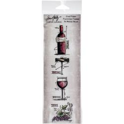 Tim Holtz Cling Stamps Wine