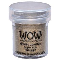 Wow! Embossing Powder Metallic Gold Rich Super Fine