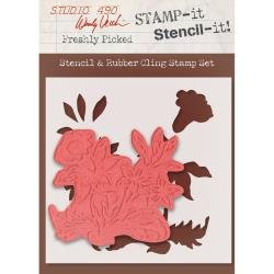 Wendy Vecchi Stamp And Stencil Freshly Picked