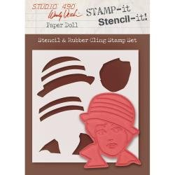 Wendy Vecchi Stamp And Stencil Paper Dolls