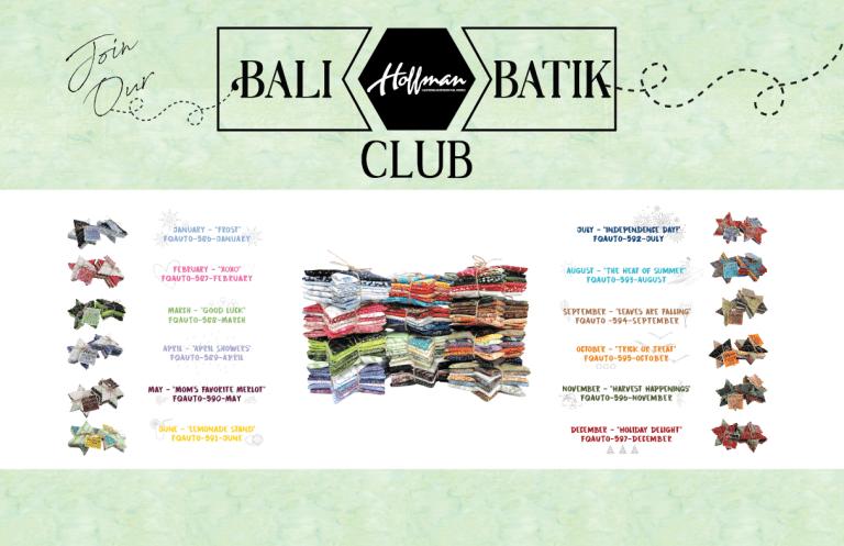 Bali Batik Club - April: April Showers