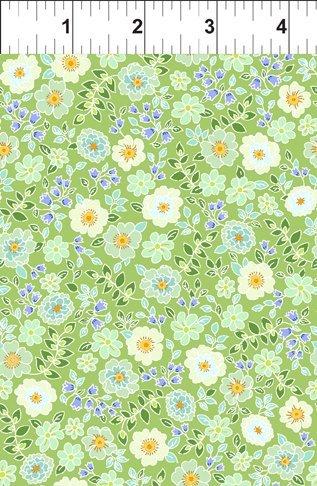 Garden Delights: Garden Blooms - Green