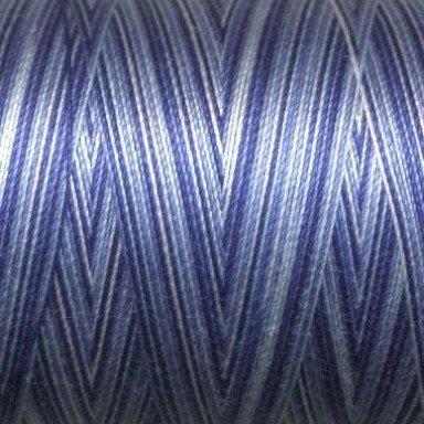 Aurifil Cotton Mako Thread 50wt 1300m: Storm at Sea Variegated Blue 4655