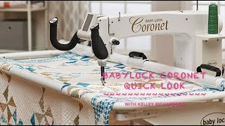 Baby Lock Coronet Machine and Frame KP Long Arm Quilting