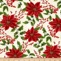 Hoffman Santa`s Sweets  Natural Poinsettia