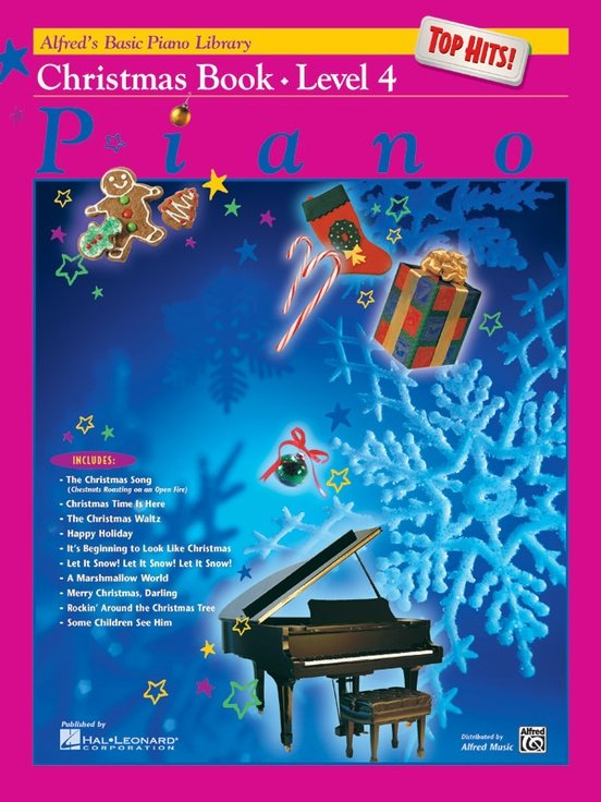Alfred's Basic Piano Library: Christmas Top Hits Level 4