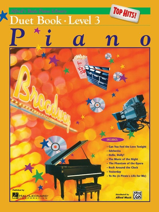 Alfred's Basic Piano Library: Duet Top Hits Level 3
