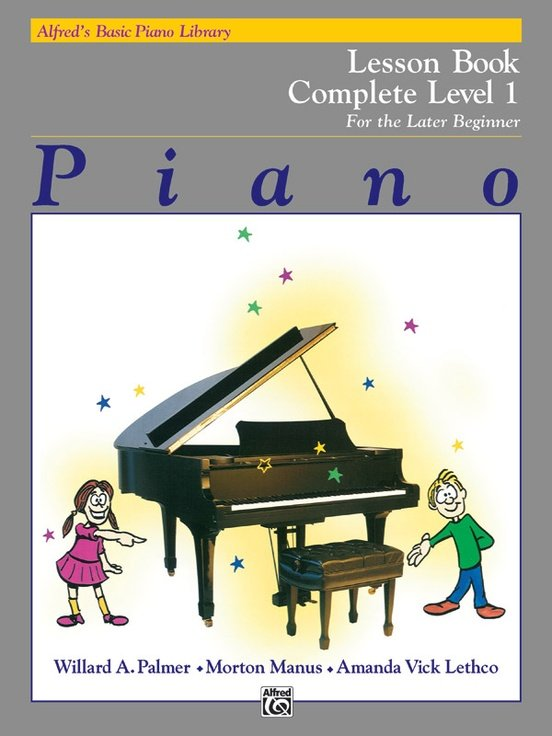 Alfred's Basic Piano Lesson Book complete 1