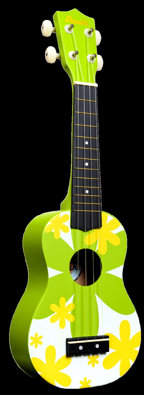 Amahi Green Flower Soprano Uke DDUK6