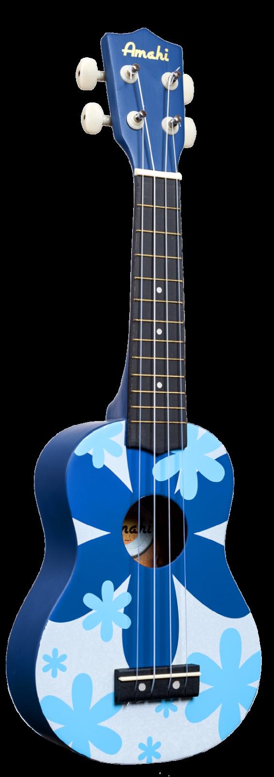 Amahi Blue Flower Soprano Uke DDUK8