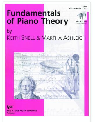 Fundamentals of Piano Theory, Prep Level