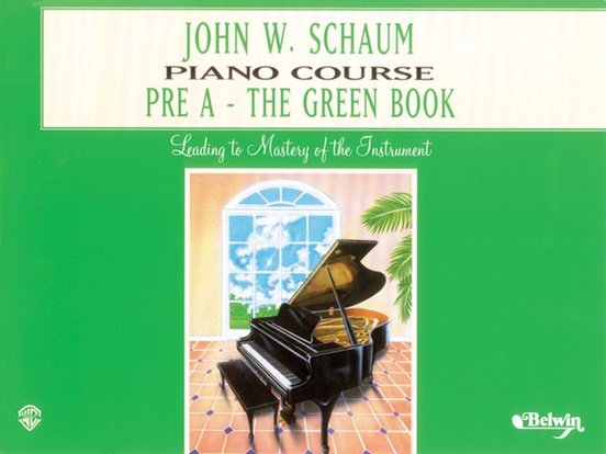 Schaum Piano Course Pre A- The Green Book