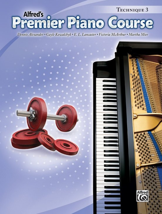 Alfred's Premier Piano Course, Technique 3