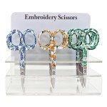 Emb Scissor 3½ Flowers