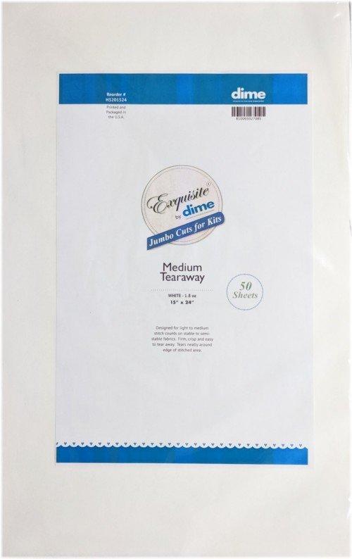 Medium Tearaway - White 1.8 oz  15  X  24 (50 Sheets)