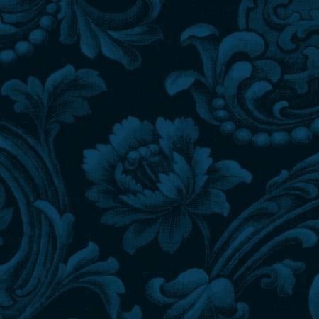 COLOR WALL - Navy Floral Brocade
