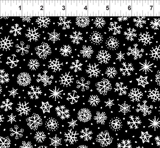 The Four Seasons - Snowflakes - Black