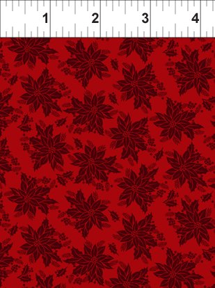 Winter Twist - Tonal Floral - Red