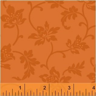 COLOR WALL - Amber Gold - Jacobean Flower