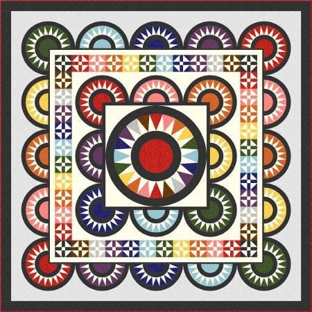 Quilt Kit Colorwall Full Spectrum 92 x 92