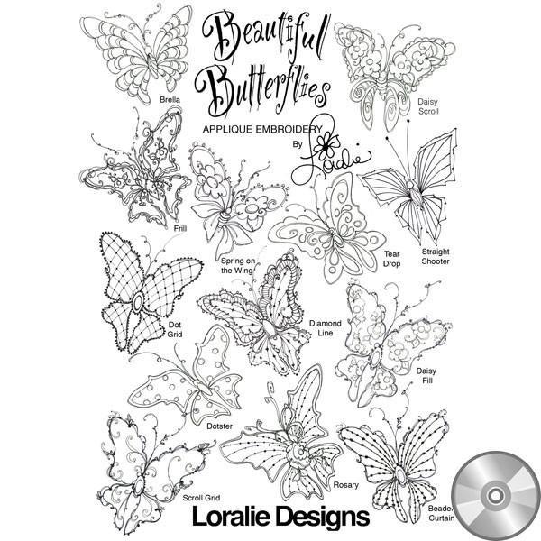 Beautiful Butterflies Machine Embroidery