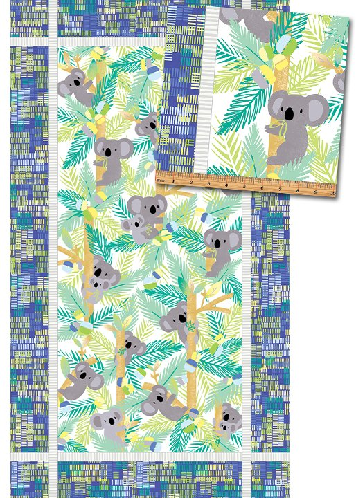KOALA BABY PANEL ROYAL/JADE