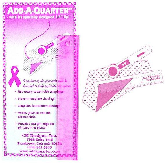 Add A-Quarter Ruler 1in x 6in Pink