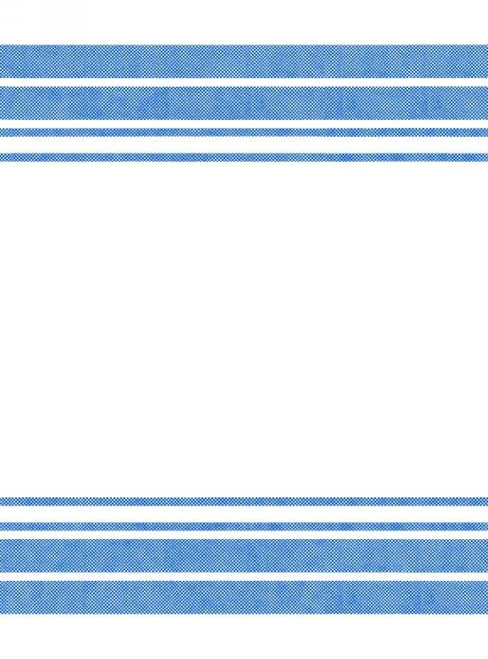 White/Blue Border Stripe 20x27in Towels
