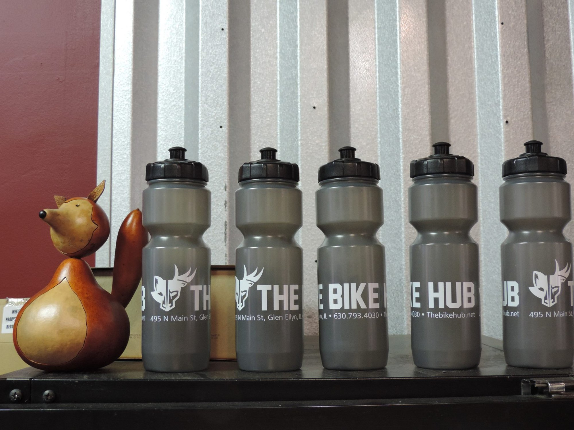 The Bike Hub Water Bottle : EZ FLO Lid : BPA Free