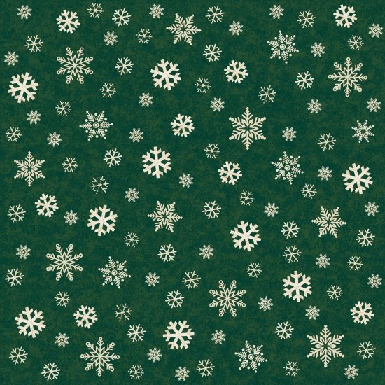 Snowflakes on Green, A Time of Wonder