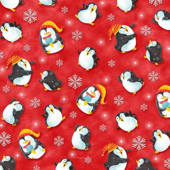 Penguins on Red, Penguin Paradise