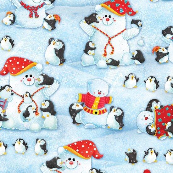 Penguins building Polar Bears